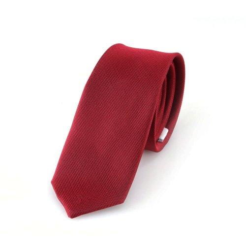 Schmale rote handgefertigte Krawatte 5 cm // verschiedene Farben wählbar