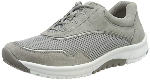 Gabor Shoes Damen Rollingsoft Sneaker, Grau/Stone, 40 EU