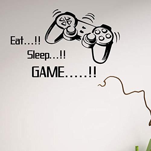 Geschnitzte Essen Schlafen Spiel Gamepad Wandaufkleber Kreative Selbstklebende Wandbild Removable Wallpaper -