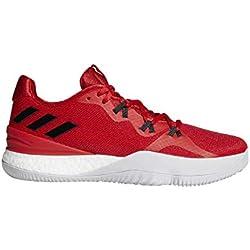 Adidas Crazy Light Boost 2018, Zapatillas de Baloncesto para Hombre, Rojo (Escarl/Negbás/Ftwbla 000), 43 1/3 EU