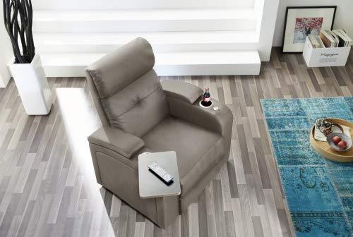 Pro Com Relaxstuhl Stoffsessel Loungesessel Fernsehsessel 1er Houston Grau