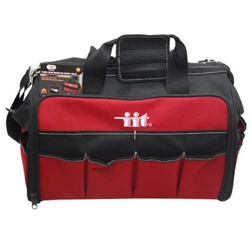 ft Side Nylon Tool Bag with Plastic Organizer Tray by IIT (Soft Side Tool Bag)