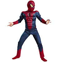 nihiug Children Cosplay Mask Spiderman Anime Performance Costume All Inclusive Siamese Tights,Red-135-145cm