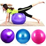 Orpio Body Exercise Workout Anti Burst Gym Ball 75 Cm With Air Pump For Fitness & Exercise (Multicolor)