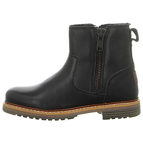 BULLBOXER Damen Ankle Boots 049M66532,Frauen Stiefel,Halbstiefel,Stiefelette,Bootie,knöchelhoch,Reißverschluss,Schwarz,EU 39