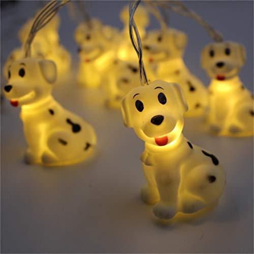 Cartoon Tiere LEDs Lichterkette Batteriebetrieben Deko für Garten, Bäume, Terrasse, Weihnachten, Hochzeiten, Partys, Innen und außen (Hund)