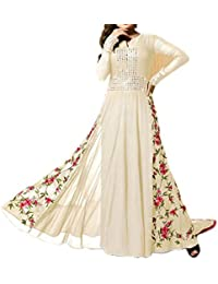 Ethnic Empire Women's Dress Material (EE-EA10733_White_Free Size)