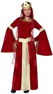 Atosa-15876 Disfraz Dama Medieval, Color rojo, 3 a 4 años (15876