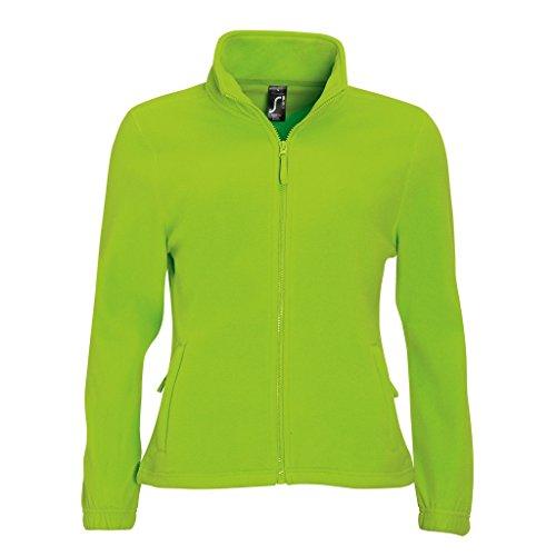 SOLS Damen North Fleece-Jacke mit durchgehendem Reißverschluss (M) (Limette)