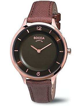Boccia Damen-Armbanduhr Analog Quarz Leder 3249-03
