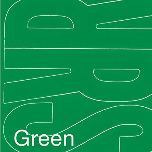 Graphic Produkte Permanent Adhesive Vinyl Buchstaben 4-Zoll 95/pkg-Green (Buchstabe C Stuff)