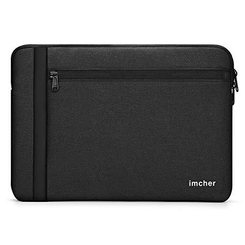 GVDV Laptop Schutzhülle für 13-Zoll Notebook Tablet iPad Tab, wasserdichte Tasche Aktentasche Kompatibel mit MacBook Air/Pro, 13 '' MacBook Pro, 12.3 Surface Pro, Surface Laptop, Schwarz (Tasche Flache Interior)