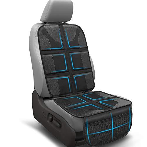 Autositzauflage, Sotor Autositzauflage für Kindersitz, ISOFIX Auto Kindersitzunterlage - Rutschfestem, Atmungsaktivem Netzgewebe, Organizer - Anti-fleck, Verschleißfest (142 cm x 43.5 cm)