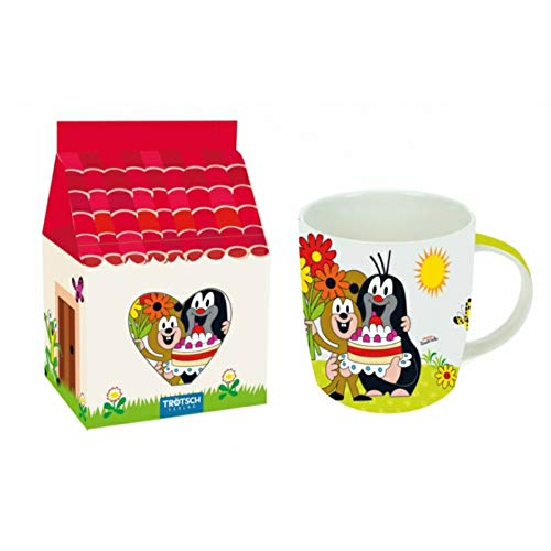 Trötsch Tasse Kaffeebecher Geschenktasse Geburtstag-der Kleine Maulwurf in Farbigem Geschenkkarton...