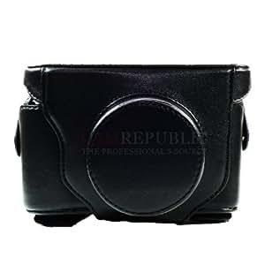 CAMREPUBLIC Leather Camera Case for Fujifilm FUJI Finepix X10 LC-X10 LCX 10