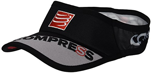 Compressport Ultralight - Visera unisex, color negro, talla única