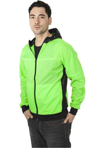 Urban Classics Athletic Windrunner Herren Windbreaker Grün Schwarz neon green/black