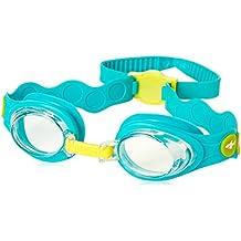 Speedo Sea Squad IU Gafas de Natación, Unisex Niños, Azul (Bali Blue / Empire Yellow / Clear), Talla Única