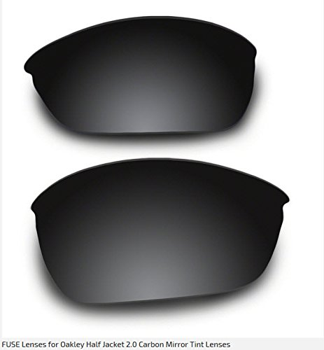 961be7bd809 123146-SM Fuse Replacement Lenses for Oakley Half Jacket 2.0 with a Carbon Mirror  Tint