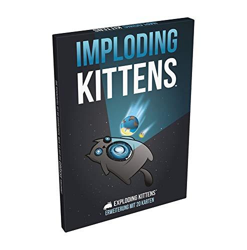 Exploding Kittens - Imploding Kittens - Erweiterung | Kartenspiel | DEUTSCH