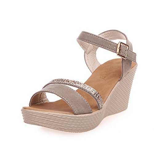 Sandales d'été femmes/Coins strass plate-forme shoes/Chaussures Casual student/chaussures A
