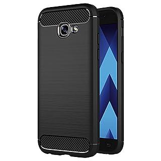 AICEK Compatible Samsung Galaxy A5 2017 Hülle, Schwarz Silikon Handyhülle für Samsung Galaxy A5 2017 Schutzhülle Karbon Optik Soft Case (5,2 Zoll)