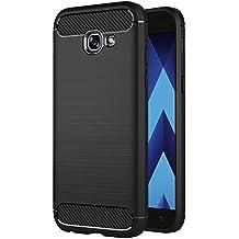 Funda Samsung Galaxy A5 2017, AICEK Negro Silicona Fundas para Galaxy A5 2017 Carcasa A520 (5,2 Pulgadas) Fibra de Carbono Funda Case