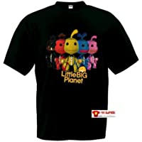 Comparador de precios Camiseta Little Big Planet Sackboys Negra (Talla: TallaXS Unisex Ancho/Largo [49cm/62cm] Aprox], Tipo de Manga: Corta Unisex) - precios baratos