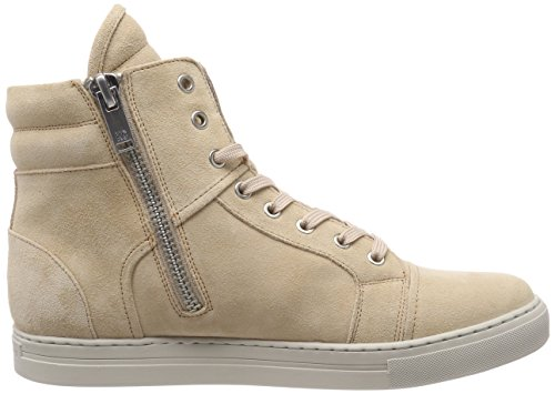 Kenneth Cole Herren Double Header Hohe Sneaker Beige (Cream)