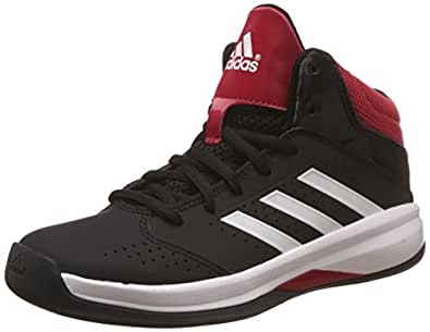 adidas Unisex Isolation 2 K Black, White and Red Sneakers  - 11 kids UK/India (29 EU)