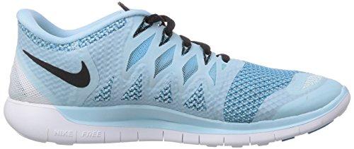Nike - Wmns Free 5.0, Scarpe da corsa da donna Turchese (Ice Cube Blue/Black-Clearwater)