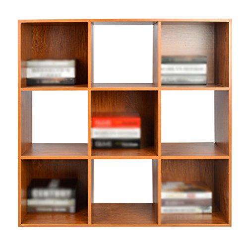 DFHHG® Librería, Estantería de madera Madera de cerezo Color Jiugongge durable
