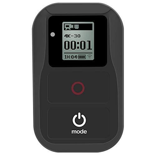 Suptig Télécommande Wifi sans fil et étanche noire pour Gopro Hero 6 Hero 5 Hero 4 Hero Session Hero 3 Hero 3+ Hero + caméra embarquée avec écran LCD