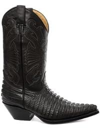 Grinders - Botas para hombre Croctail Black