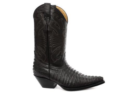 Stiefel Schwarze Männer Cowboy 13 Größe (Grinders Carolina Herren Western Cowboy Stiefel, Schwarz, Größe 46)
