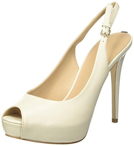 Guess Damen Footwear Dress Sling Back Plateaupumps, Elfenbein (Ivory Cream), 40 EU Guess High Heel Heels