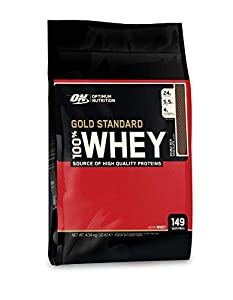 Optimum Nutrition Gold Standard Whey Eiweißpulver (mit Glutamin und Aminosäuren, Protein Shake von ON), Double Rich Chocolate, 149 Portionen, 4.54kg