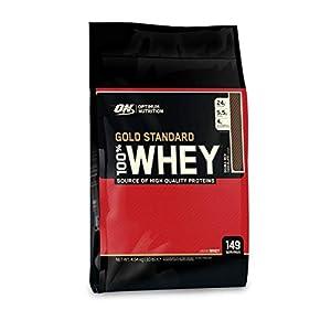 Optimum Nutrition Gold Standard Whey Eiweißpulver (mit Glutamin und Aminosäuren, Protein Shake von ON), Double Rich Chocolate Eiweiß, 149 Portionen, 4,54kg