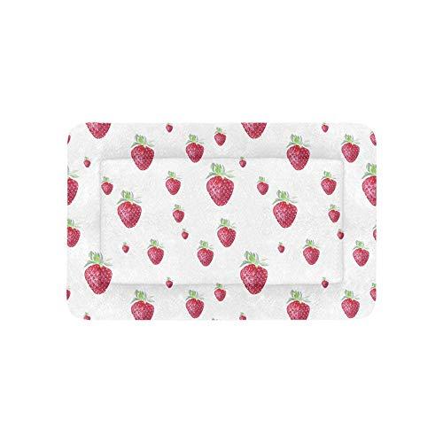 Zucker Süße Erdbeerfrucht Extra Große Individuell Bedruckte Bettwäsche Weiche Haustier Hundebetten Für Welpen Und Katzen Möbel Matte Höhlenauflage Kissenbezug Innen Geschenk Lieferanten 36 X 23 Zoll -