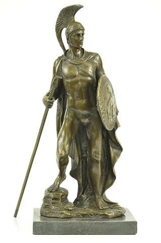 Handgemachte Bronze Skulptur Bronze Statue Marmor klassische römische Krieger Nobleman Military War Gott-Ukyrd-241- Decor Sammler Geschenk