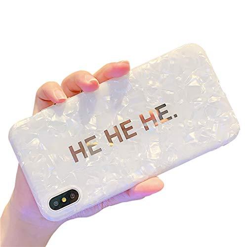 Bakicey iPhone 8 Plus Hülle, iPhone 7 Plus Handyhülle Weich Silikon Mode Chic Shell Muster Schutzhülle Bumper Cover Kratzfeste Stoßfest Ultra Dünn Hülle Case für Apple iPhone 8 Plus, HE Bronzing -