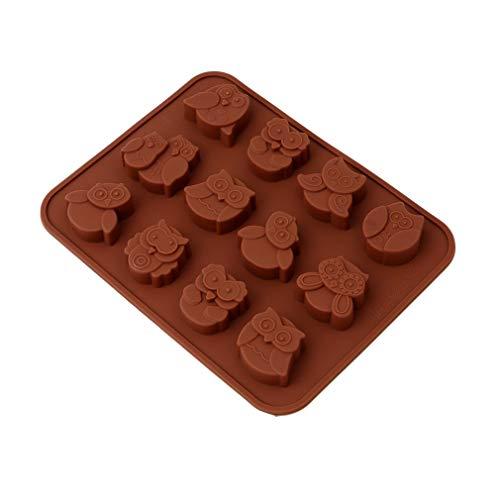 Fliyeong Durable Owl Schokoladenform Kids Candy Jelly Mold Kuchen Fondant Dekoration Schimmel
