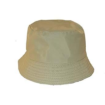 Chapeau-tendance - Bob de pluie satiné beige - - Femme