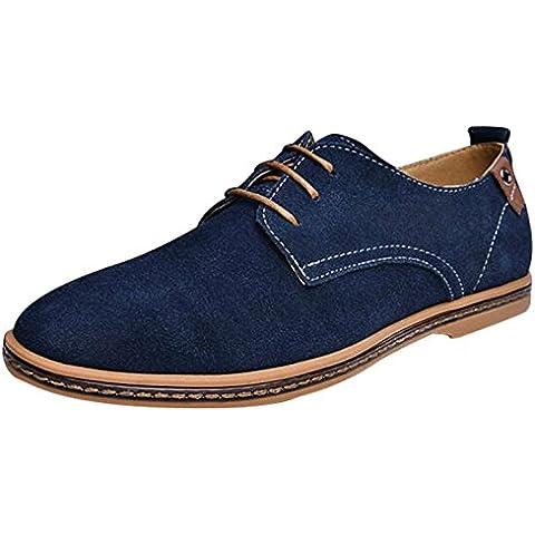CANRO Zapatos de Vestir hombre azules