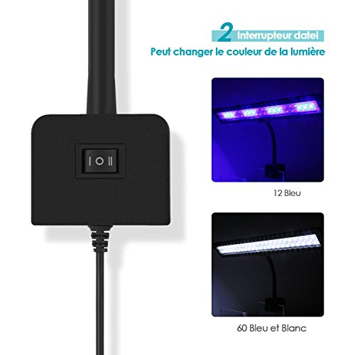 Plug Modes Bleu PoissonsAc110 48 Eu 5730smd Pour Led 2 Clip 240v 80cm Blanc12 À 50 Avec 60led AquariumÉclairage Amzdeal Lampe b2EHID9YeW