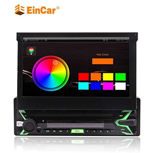 EINCAR Kapazitive 1024 * 600 Schirme Bluetooth 3G / 4G WiFi Mirrorlink SWC FM/AM RDS Radio-AUX-Eingang 1 Din Quad-Core 1 GB RAM 16 GB ROM Android 9.0 Auto-Stereo GPS-Navigation mit 7-Zoll-Multi