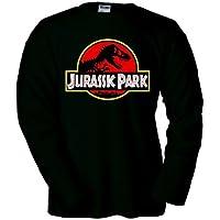 Comparador de precios Camiseta Parque Jurasico logo clásico negra manga larga (Talla: Talla M Unisex Ancho/Largo [53cm/72cm] Aprox]) - precios baratos