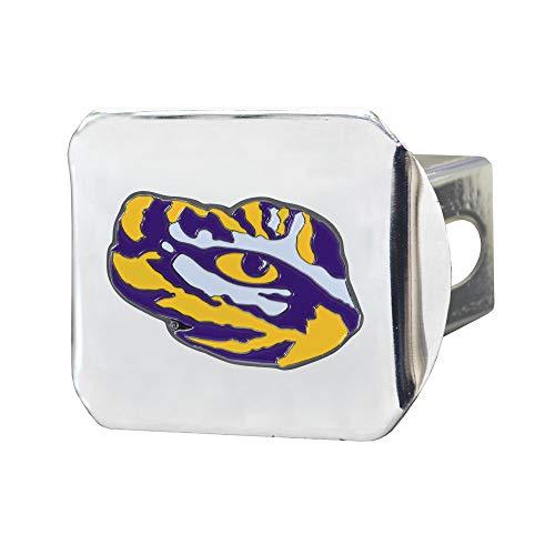 SLS LSU Tigers 3D Color Emblem Chrom Abdeckung für Anhängerkupplung (Metall-anhängerkupplung Abdeckung)