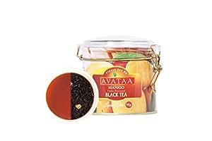 Avataa Mango Black Tea: High Grown Ceylon Tea with Dehydrated, Coarse Cut Mango Fruit (50 Gram/25 Cups)