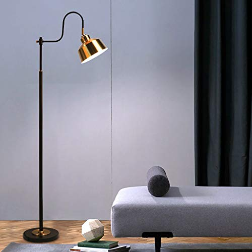 Hohe Schwarz Gold Angeln Stehlampe, Nordic Wohnzimmer Lesen Schlafzimmer Arbeitszimmer Büro Metall Stehleuchte, einzigartige Multi-Winkel Anpassung Lampshade und Design Standleuchten